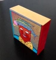 Acryl auf Holz, 10cmx 10cm